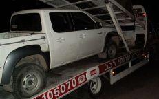 Le véhicule de Shalom Arshav remorqué