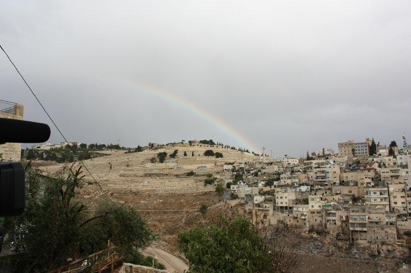 Un arc-en-ciel sur Jérusalem