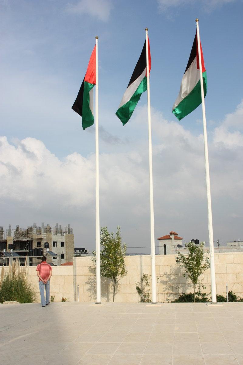 La Muqata, ancienne résidence de Yasser Arafat, devenu symbole national pour les Palestiniens