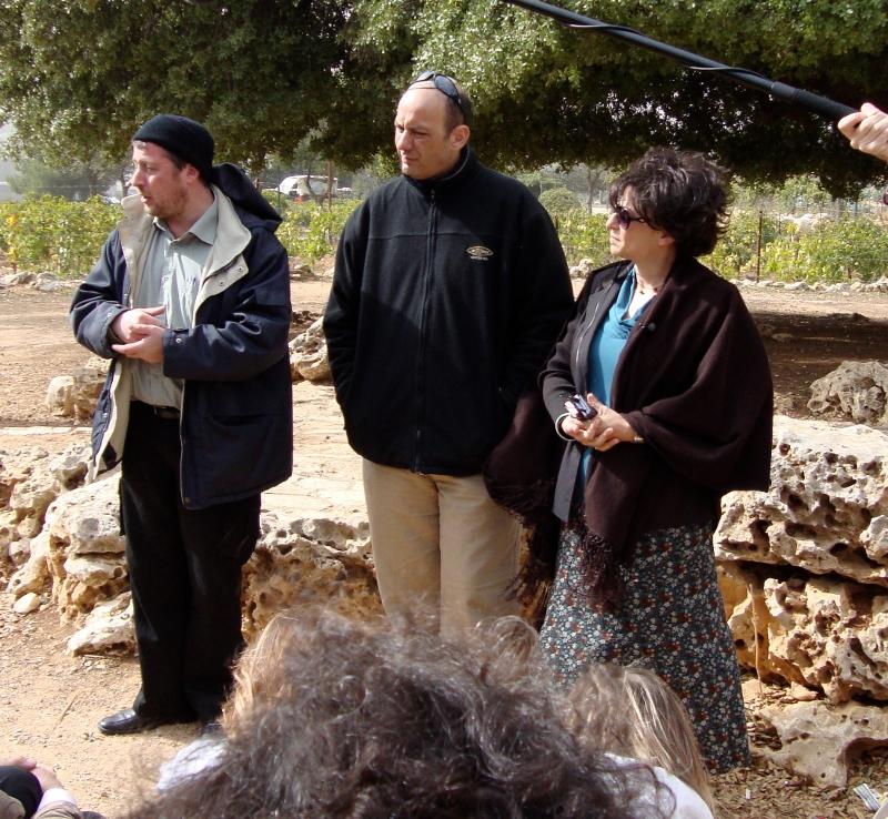 Michaël Blum, Yoram Bitane et Sara Brownstein