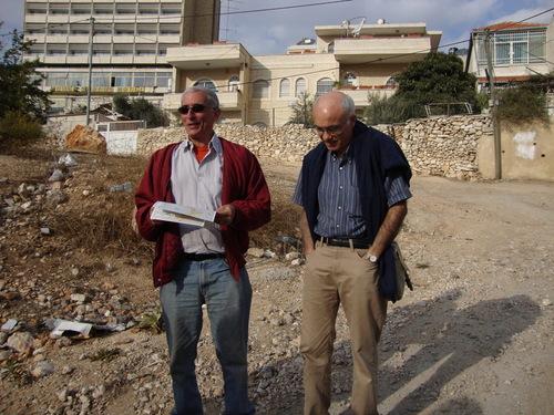Danny Seidemann et David Chemla à Sheikh Jarrah