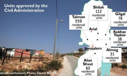 8 août – des centaines de constructions annoncées en Cisjordanie