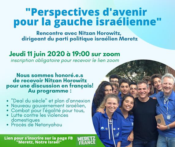 Rencontre avec Nitzan Horowitz : Perspectives d'avenir pour la gauche israélienne