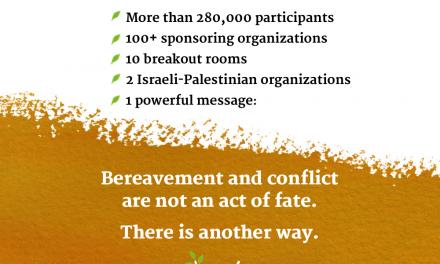 VOIR OU REVOIR LA CÉRÉMONIE ISRAÉLO-PALESTINIENNE DU SOUVENIR «PARTAGER LA DOULEUR APPORTER L'ESPOIR»