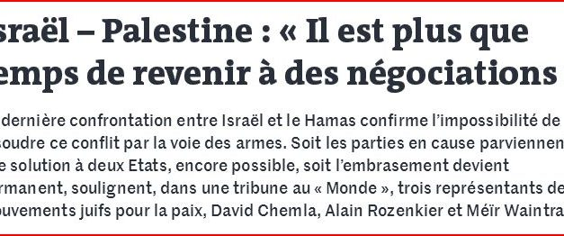 Israël – Gaza: Comment sortir de ce nouveau conflit?